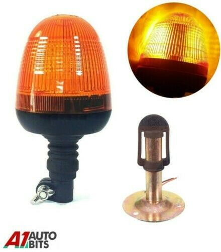 Royaume-UniClignotant Warning LED Ambre Léger Lampe & Support Tracteur  Véhicule #F