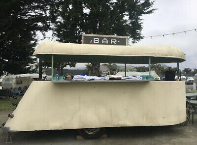 1937 VINTAGE TRAVEL TRAILER RARE POP UP CAMPER CONCESSION DECO BAR 30's