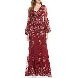 David Meister Floral Gown Size 10