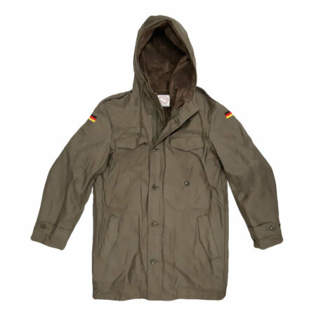 img-German Parka Original Army Military Winter Warm Fleece Hooded Coat Olive Green