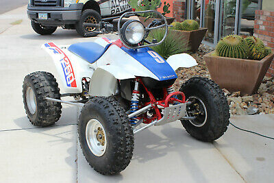1986 Honda TRX 250R TRX250R Quad Four Wheeler - Red White Blue