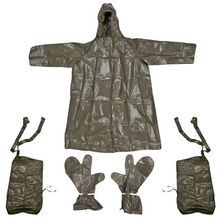 img-Army Waterproof Poncho Original Czech Military Protection Suit Glove Leg Cover