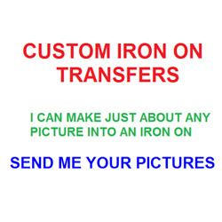 Kyпить Custom Iron On Transfer Light/Dark Fabrics Various Sizes Offered You Choose на еВаy.соm