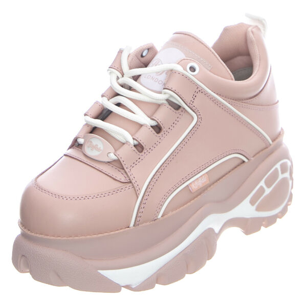 ItalieBUFFALO Cuir Nappa 1339-14 - Baby Rose - Chaussures Profil Haut Femme Rose