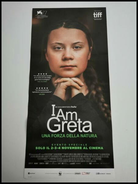 ItalieI AM GRETA A FORCE OF NATURE Original Movie Poster 12x27