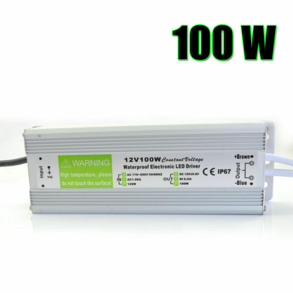 Royaume-UniDc 12V - 100W LED Conducteur  Supply Transformer Imperméable IP67 Bande