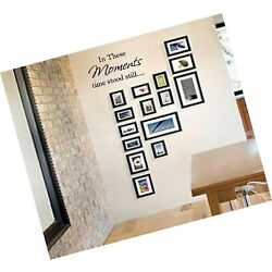 IN THESE MOMENTS TIME STOOD STILL QUOTE VINYL WALL DECAL VINYL LETTERING STIC...