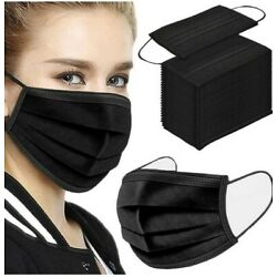 Kyпить [50/100 PCS] Face Mask Disposable Non Medical Surgical 3-Ply Earloop Mouth Cover на еВаy.соm