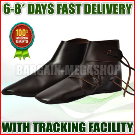 img-Medieval Leather Shoe Brown High Quality Medieval Leather boots