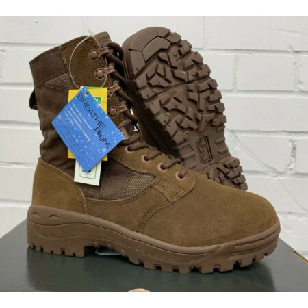 img-WOMENS MAGNUM BROWN LEATHER PATROL COMBAT BOOTS - Sizes, British Army , NEW