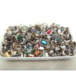 Kyпить C 50 GRAM RINGS LOT ASSORTED STERLING SILVER 925 WHOLESALE RESALE VINTAGE NOW на еВаy.соm