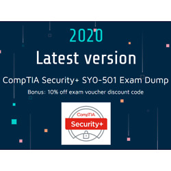 Kyпить CompTIA Security+ SY0-501 Exam Dump Q&A - Latest Questions - Instant Delivery  на еВаy.соm