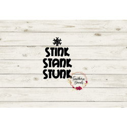 Stink Stank Stunk Grinch Vinyl Decal for Mugs, Crafts and more!