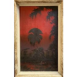 Kyпить James Gibson Highwaymen Painting Red Sunset Silhouette Early Rare на еВаy.соm