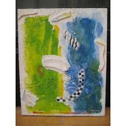 Kyпить MYSTERY ABSTRACT EXPRESSIONIST COLLAGE OIL PAINTING NEW YORK SCHOOL SIGNED ART на еВаy.соm
