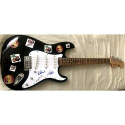 Kyпить Cheech and Chong signed autographed Fender Squier Bullet electric guitar JSA COA на еВаy.соm