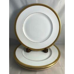 Kyпить Set of 4 Royal Doulton ROYAL GOLD Dinner Plates Free Shipping на еВаy.соm