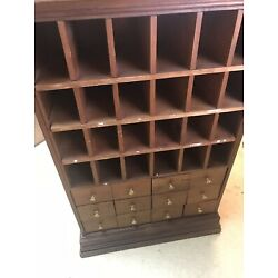 Kyпить Antique  Drawer Oak Dovetailed Library Index Card Catalog File Cabinet на еВаy.соm