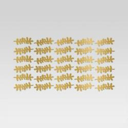 Leaf Design Removable Wall Decal Light Gold - Room Essentials