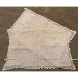 Kyпить Handmade Vintage Doily Crochet Ivory Cream Pillow Cases Shams Standard Lace на еВаy.соm