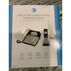 Kyпить AT&T TL86103 2-Line Corded/Cordless Answering System fast free same day ship на еВаy.соm