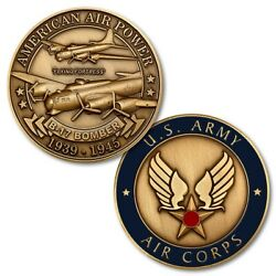Boeing B-17 Flying Fortress Bomber Challenge Coin 1 1/2'' WWII Aviation NTM-16021