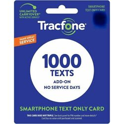 TracFone 1000 Texts Add On Card for SmartPhone -- Direct Load