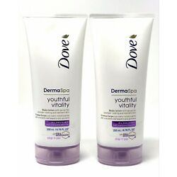 Dove Derma Spa Youthful Vitality Body Lotion w/ Serum for Dry Mature Skin (2PK)