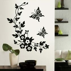 High quality 3D butterfly flowers wall sticker for kids room bedroom living room