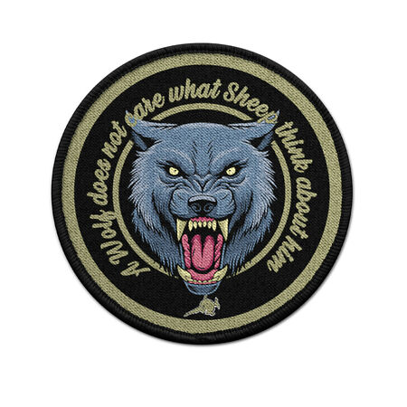 img-Patch a Wolf Interested It Not What Sheep Over Him Thought Uniform #30982
