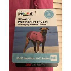 Silverton Weatherproof Thinsulate Warm Coat For Dogs, Pink, Medium, New W/Tags