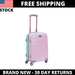 Kyпить 20 in. Expandable Carry on Hardside Spinner Luggage, Mint/Pink на еВаy.соm