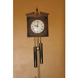 Kyпить Vintage E. Schmeckenbecher Double Weight Wall Chime Pendulum Clock West Germany на еВаy.соm