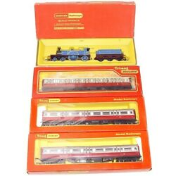 Triang Hornby OO CALEDONIAN ''BLUE BELLE'' STEAM LOCOMOTIVE + Full COACH SET MB`68