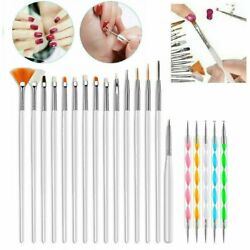 Kyпить 20PCS/Set Nail Art Design Dotting Painting Drawing Polish Brush Pen Tools UV Gel на еВаy.соm