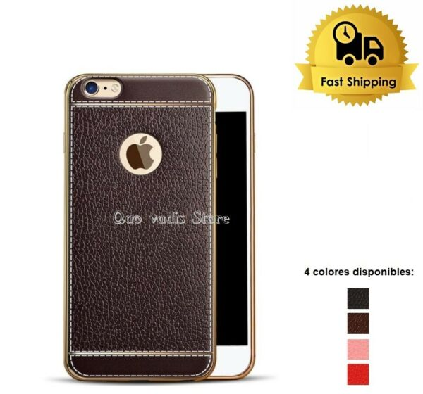 SpanienCOVER CASE IN TPU  SOFT ULTRA THIN SLIM LEATHER FOR APPLE IPHONE SERIES