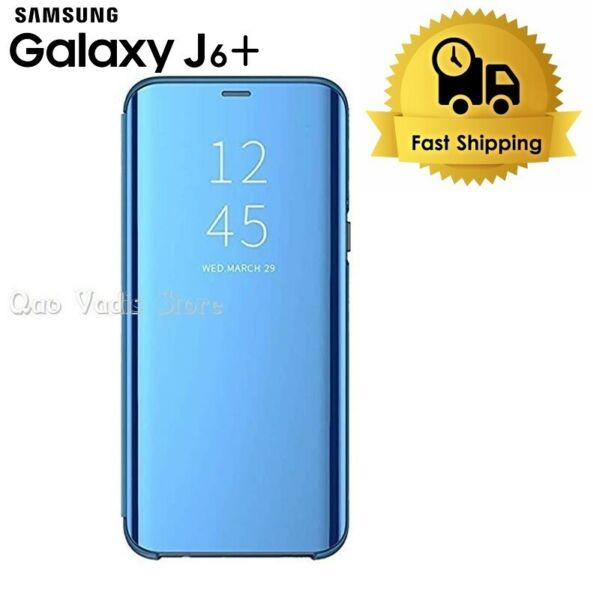 SpanienCOVER CASE 360° CLEAR VIEW MIRROR FLIP STAND FOR SAMSUNG GALAXY J6 PLUS 2018