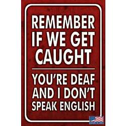 GET CAUGHT! METAL SIGN USA MADE! 8''X12'' FUNNY MAN CAVE BAR PUB DRINKING HUMOR