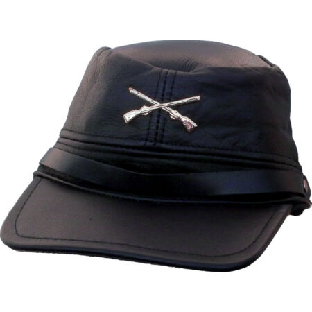 img-Country Western Biker Leather Cap Southern Mütze-csa Gerneral Lee - schwarz56-60