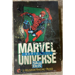 Kyпить 1992 Marvel Universe Series 3 Factory Sealed Box--FRESH CASE--QUANTITY AVAILABLE на еВаy.соm