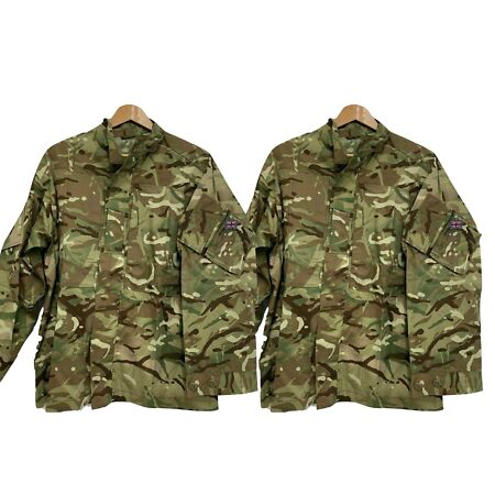 img-MTP CAMO WARM WEATHER COMBAT SHIRT JACKET - PACK OF TWO , British Army NEW