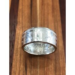 US Morgan 90% Silver Dollar Coin Ring High Polish(Handcrafted from a real coin)