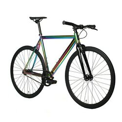 Golden Cycles Uptown Alloy Track Fixie Bike Oil Slick 63 cm 2021