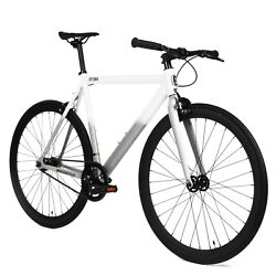 Golden Cycles Uptown Alloy Track Fixie Bike Grey White 51 cm 2021