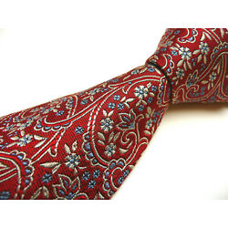 New Hickey Freeman tie. Hand Made in USA from pure silk woven in England. Red