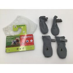 Planet Petco LuvGear Heat TempAlert Reflective Paw Protectors Dog Boots XS/S