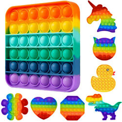 Kyпить Push Pop Bubble It Silicone Sensory Fidget Rainbow Toy Autism Stress Relief Game на еВаy.соm