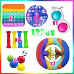 Kyпить 12pcs Stress Relief Anti-Anxiety Baby Simple Dimple SEN Sensory Fidget Toys US на еВаy.соm