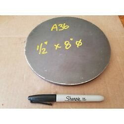 Steel Plate Round Disc,  8'' diameter x 1/2'' thick, A36,   Lathe Stock