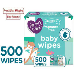 Parent's Choice Fragrance Free Baby Wipes 500 Count Pack, Soft